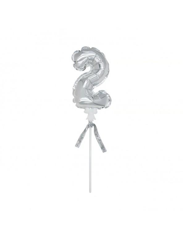 בלון, מיני בלון, בלון ספרה, יום הולדת, קיסם ספרה, ספרה, מספר, עריכת שולחן, סידור שולחן, מסיבת יום הולדת, בלון מספר, בלון כסף