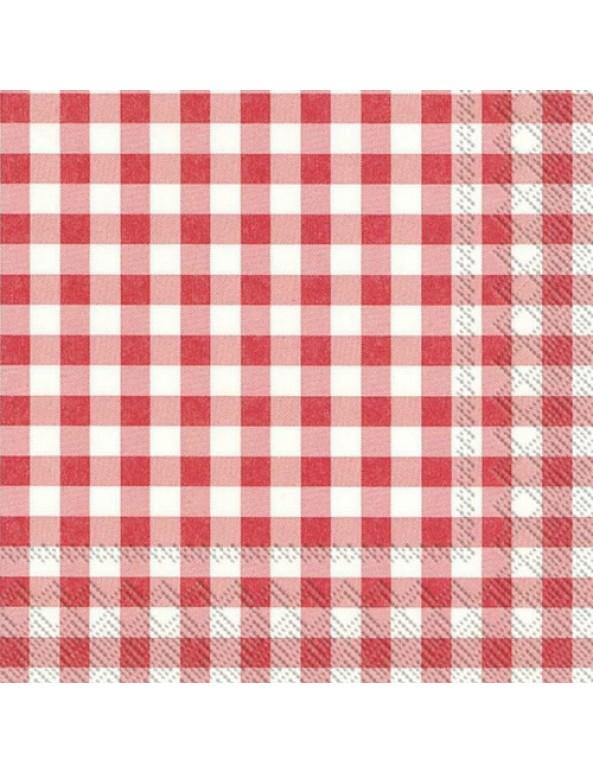 מפיות משבצות אדום לבן