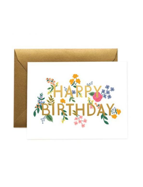 כרטיס ברכה ליום הולדת- פרחוני