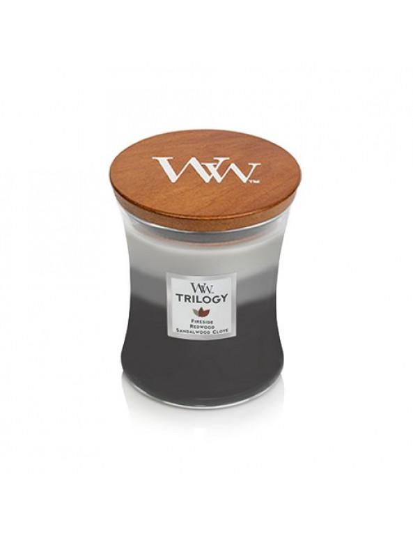 נר וודוויק שעון חול- ניחוח Warm Woods