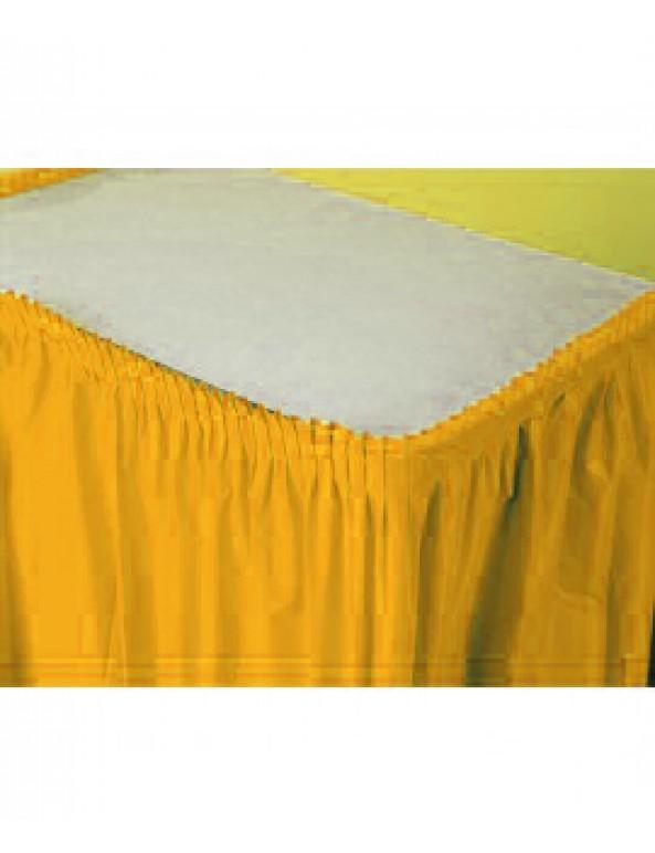 חצאית לעיטור שולחן צהובה
