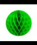 כדור כוורת ירוק עם פרנזים בצבע כסף