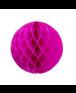 כדור כוורת פוקסיה עם פרנזים בצבע זהב