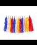 שרשרת טאסלים צבעונית