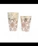 כוסות נייר מנדלה רוז גולד